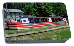 Portable Battery Charger featuring the photograph Canal Boat by Gary Wonning
