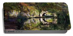 Canal Path In Autumn Portable Battery Charger