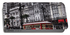 Canal Street Trolley Portable Battery Charger by Tammy Wetzel