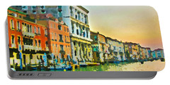 Canal Sunset - Venice Portable Battery Charger by Tom Cameron