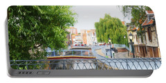 Portable Battery Charger featuring the photograph Canal View In Amiens by Therese Alcorn