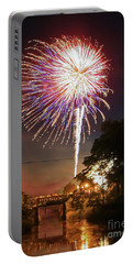 Canal View Of Fire Works Portable Battery Charger