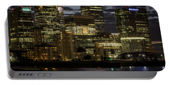 Portable Battery Charger featuring the photograph Canary Wharf by Ryan Photography