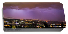 Portable Battery Charger featuring the photograph Canberra Lightning Storm by Angela DeFrias
