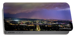 Portable Battery Charger featuring the photograph Canberra Stormy Night by Angela DeFrias