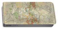 Canberra The Federal Capital 1927 Map Portable Battery Charger