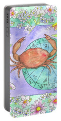 Portable Battery Charger featuring the painting Cancer by Cathie Richardson