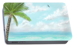 Portable Battery Charger featuring the digital art Cancun At Christmas by Darren Cannell