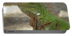 Candid Of A Green Iguana Portable Battery Charger by DejaVu Designs