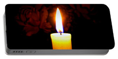 Candlelight And Roses Portable Battery Charger