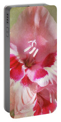Candy Cane Gladiola Portable Battery Charger