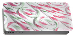 Candy Cane Swirls Portable Battery Charger