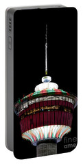 Portable Battery Charger featuring the photograph Candy Cane Tower by Brad Allen Fine Art