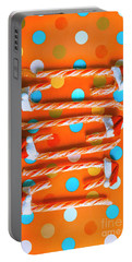 Candy Canes And Christmas Hats Portable Battery Charger