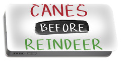 Candy Canes Before Reindeer Games- Art By Linda Woods Portable Battery Charger