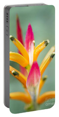 Portable Battery Charger featuring the photograph Candy Colours - Heliconia Tropical Flower by Sharon Mau