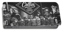 Candy Store- Ponce City Market - Black And White Portable Battery Charger