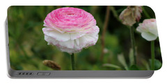 Candy Stripe Ranunculus Portable Battery Charger