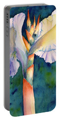 Canna Flower Watercolor Portable Battery Charger