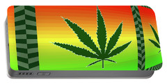 Portable Battery Charger featuring the mixed media Cannabis  by Dan Sproul