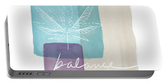 Cannabis Leaf Watercolor 3- Art By Linda Woods Portable Battery Charger by Linda Woods