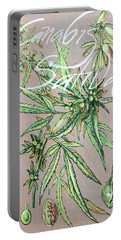 Cannabis Sativa.marijuana Botanical Portable Battery Charger