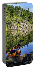 Canoe At Slim Lake Portable Battery Charger