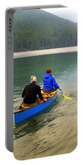 Canoeing Glacier Park Portable Battery Charger