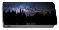 Canoeing - Milky Way - Night Scene Portable Battery Charger by Andrea Kollo