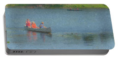 Canoes On Shovelshop Pond Portable Battery Charger