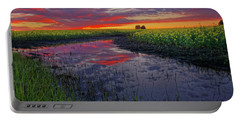Canola At Dawn Portable Battery Charger