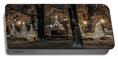 Portable Battery Charger featuring the photograph Canopy Of Christmas Lights by Kendall McKernon