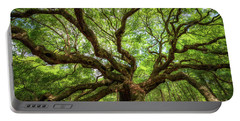 Canopy Of Color At Angel Oak Tree  Portable Battery Charger by Michael Ver Sprill
