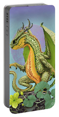 Cantaloupe Dragon Portable Battery Charger by Stanley Morrison