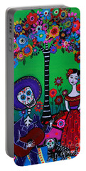 Portable Battery Charger featuring the painting Serenata Especial Para Axl by Pristine Cartera Turkus