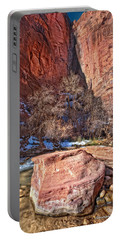 Portable Battery Charger featuring the photograph Canyon Corner by Christopher Holmes