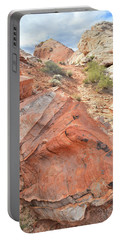 Canyon Of Color In Valley Of Fire Portable Battery Charger by Ray Mathis