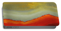 Canyon Outlandish Original Painting Portable Battery Charger by Sol Luckman