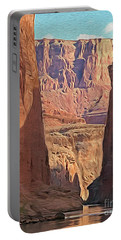 Canyon Walls Portable Battery Charger by Walter Colvin