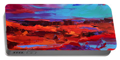 Canyon At Dusk - Art By Elise Palmigiani Portable Battery Charger