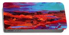 Portable Battery Charger featuring the painting Canyon At Dusk - Art By Elise Palmigiani by Elise Palmigiani