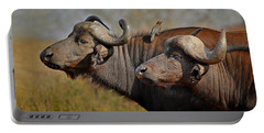 Cape Buffalo And Their Housekeeper Portable Battery Charger