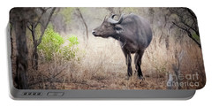 Cape Buffalo In A Clearing Portable Battery Charger
