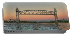 Cape Cod Canal Railroad Bridge Sunset Portable Battery Charger