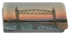 Cape Cod Canal Railroad Bridge Sunset Portable Battery Charger