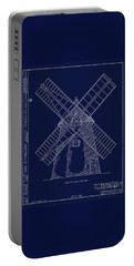Portable Battery Charger featuring the photograph Historic Cape Cod Windmill Blueprint by John Stephens