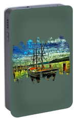 Portable Battery Charger featuring the photograph Cape Foulweather Tall Ship by Thom Zehrfeld