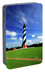 Portable Battery Charger featuring the photograph Cape Hatteras Lighthouse by Meta Gatschenberger