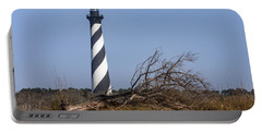 Cape Hatteras Lighthouse With Driftwood Portable Battery Charger