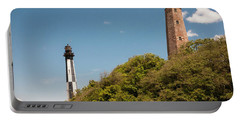 Cape Henry Lighthouses Old And New Portable Battery Charger